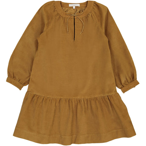 Charlotte Corduroy Dress - Brown