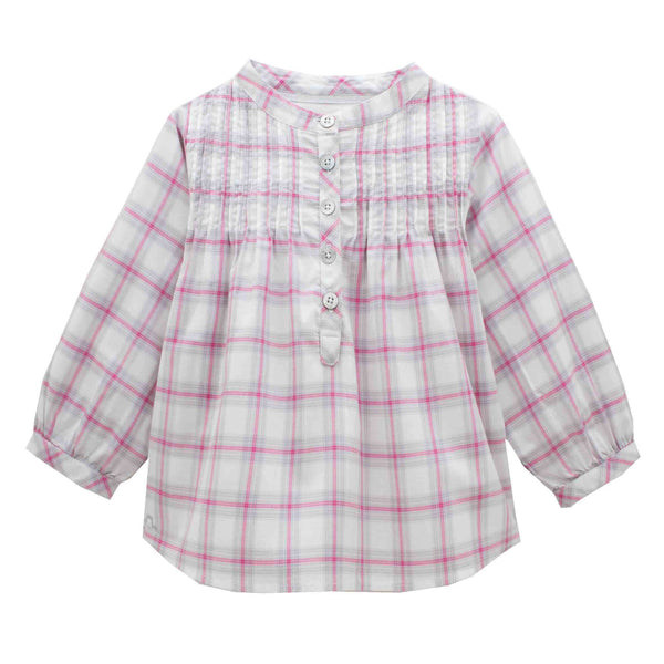 Long Sleeves Checked Tunic - Tendre Deal - 1
