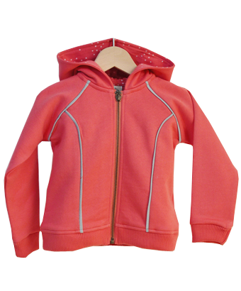 Coral Hooded Sweatshirt - Tendre Deal - 1