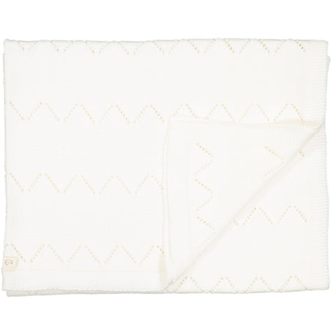 Frenchie Knitted blanket - White - Tendre Deal