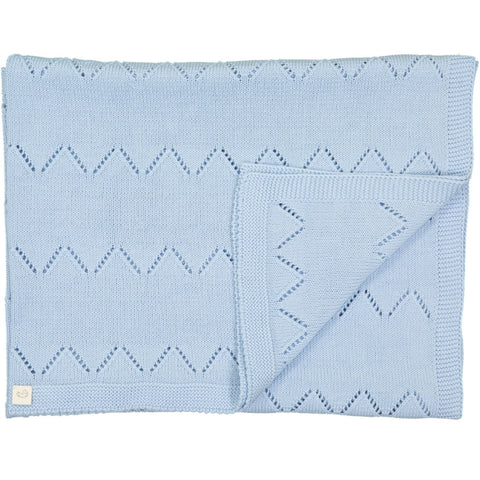 Frenchie Knitted blanket - Blue - Tendre Deal