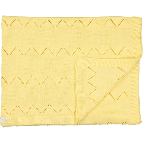 Frenchie Knitted blanket - Yellow - Tendre Deal