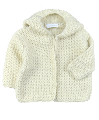 Hooded Cardigan 100% Baby Alpaca - Tendre Deal - 1