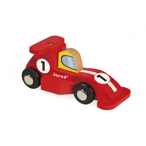Wooden Story Racing Car - Red