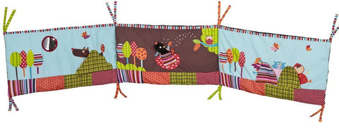 Crazy Cuddly Wolf Cot Bumper - Tendre Deal - 1