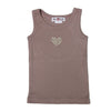 Sleeveless vest with liberty heart - Dusky Pink - Tendre Deal
