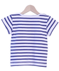Breton Stripe Top with coral pockets - Tendre Deal - 2
