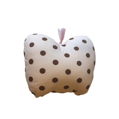 Mini Apple Cushion - Brown Dots - Tendre Deal