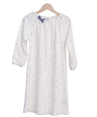 White Nightdress with Paris Print - Tendre Deal - 1