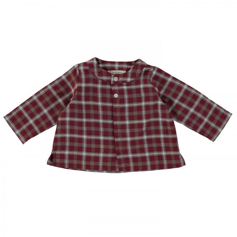 Baby Oscar shirt - Burgundy Check