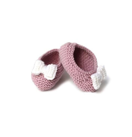 Pink Ballerinas with white bow - Tendre Deal