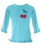 UV50+ girl's rash shirt - Aqua/Cherry - Tendre Deal