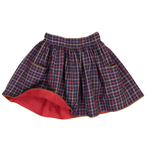 Simone reversible skirt - Paprika/Check