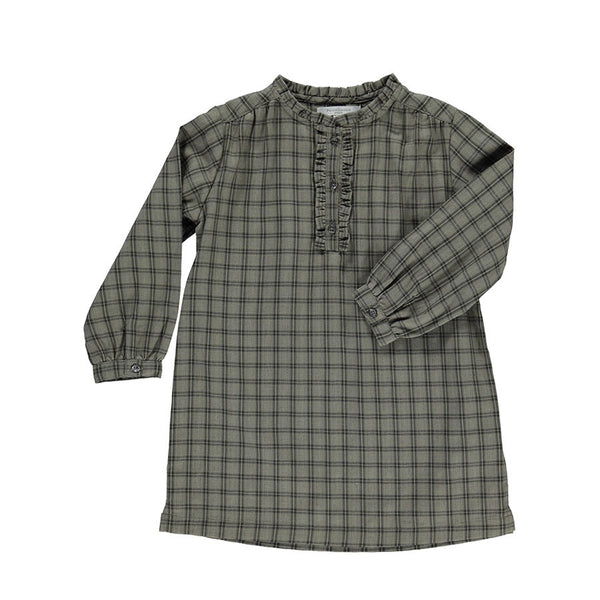 Checked Green Solange Dress