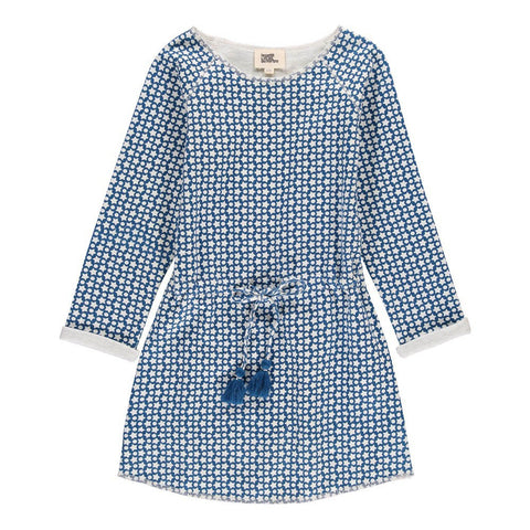 Starry Dona Dress with Belt Blue - Tendre Deal - 1