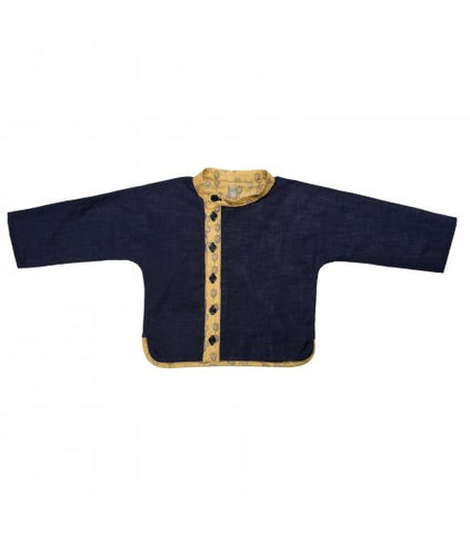 TAI shirt with yellow lanterns - Navy - Tendre Deal - 1