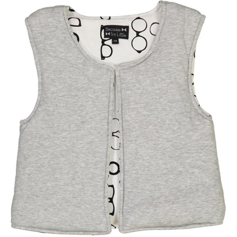 Ginguette vest - light grey with glasses