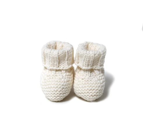 Knitted Booties - White - Tendre Deal