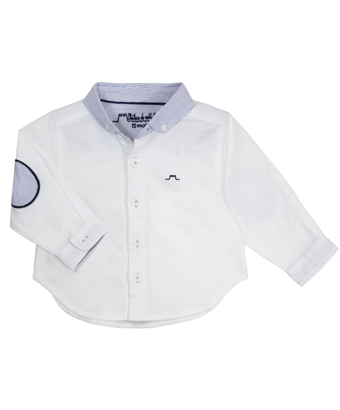 White long sleeves Shirt with Blue Collar - Tendre Deal - 1