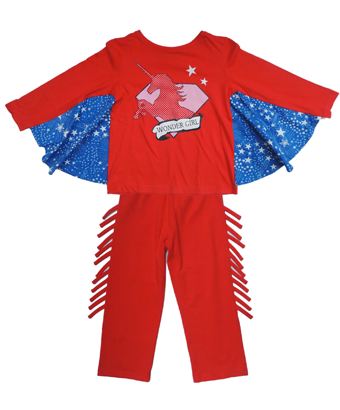 Red/ Blue Wonder Girl Pyjama set - Tendre Deal - 1