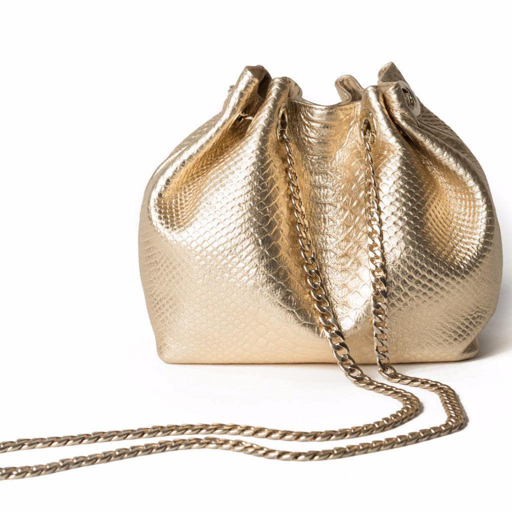 LULU Gold Cross-body Bag