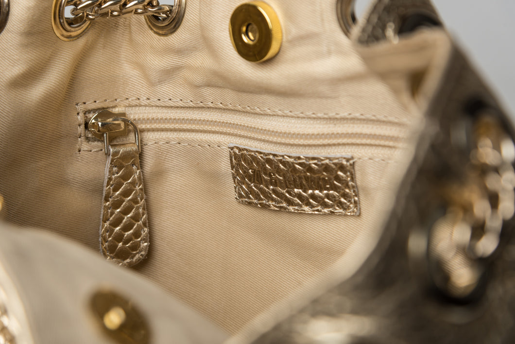 5f0626fa2e8a LULU Gold Cross-body Bag – ZI   LUWA