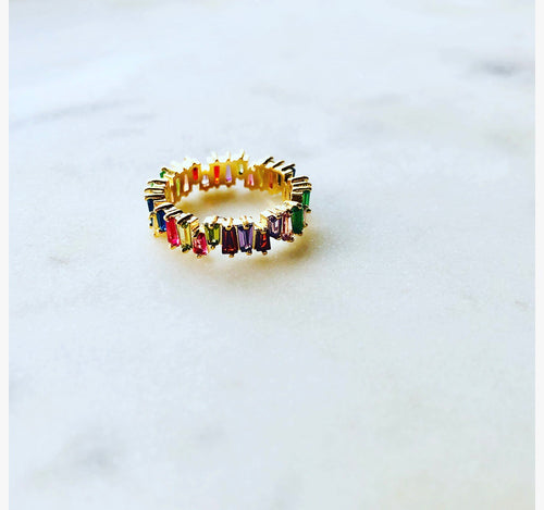 LILA Multicoloured Crystal Ring