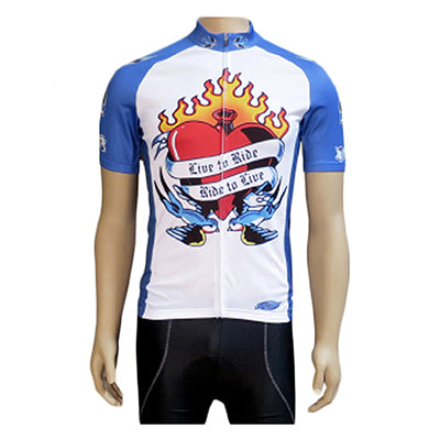 Clean motion Cycling Jersey Apparel LG Unisex Live To Ride