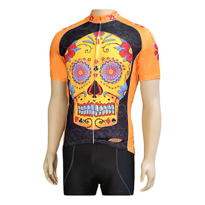 Clean motion Cycling Jersey Apparel MD Unisex Sugar Skull