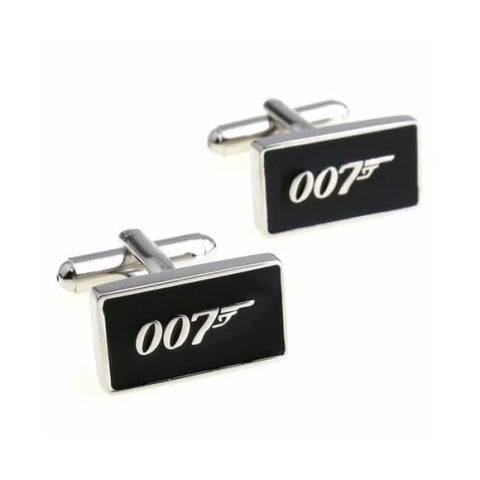 007- JAMES BOND CUFFLINKS - Elnukstyles | unique affordable men's Bow Ties, Knitted Neckties, Flower Lapel Pins, Pocket Squares, Tie Clips, Cufflinks, Brooch, Toronto