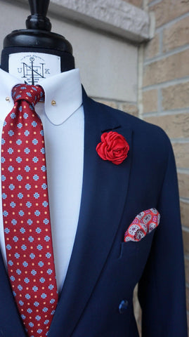 REDNESDAY BOX-SET - Elnukstyles | unique affordable men's Bow Ties, Knitted Neckties, Flower Lapel Pins, Pocket Squares, Tie Clips, Cufflinks, Brooch, Toronto