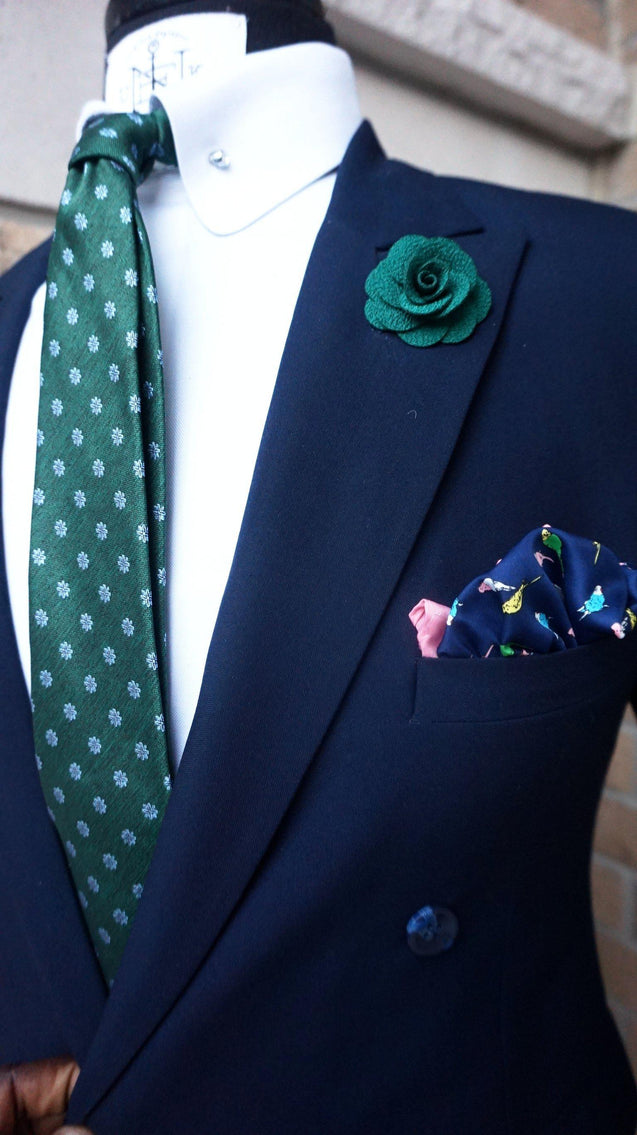 THE GRASSY PINK BOX-SET - Elnukstyles | unique affordable men's Bow Ties, Knitted Neckties, Flower Lapel Pins, Pocket Squares, Tie Clips, Cufflinks, Brooch, Toronto