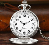 SILVER CLASSIC POCKET WATCH - Elnukstyles | unique affordable men's Bow Ties, Knitted Neckties, Flower Lapel Pins, Pocket Squares, Tie Clips, Cufflinks, Brooch, Toronto