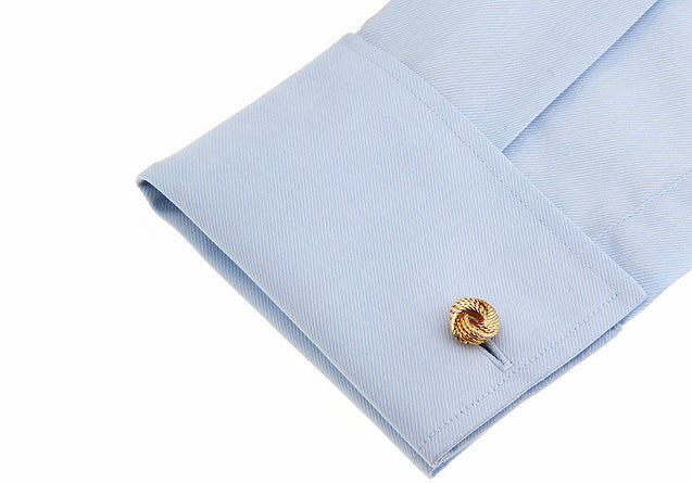 KNOT CUFFLINKS (GOLD) - Elnukstyles | unique affordable men's Bow Ties, Knitted Neckties, Flower Lapel Pins, Pocket Squares, Tie Clips, Cufflinks, Brooch, Toronto