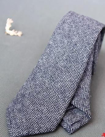 LIGHT GREY WOOLEN TIE - Elnukstyles | unique affordable men's Bow Ties, Knitted Neckties, Flower Lapel Pins, Pocket Squares, Tie Clips, Cufflinks, Brooch, Toronto