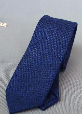 BLUE WOOLEN TIE - Elnukstyles | unique affordable men's Bow Ties, Knitted Neckties, Flower Lapel Pins, Pocket Squares, Tie Clips, Cufflinks, Brooch, Toronto