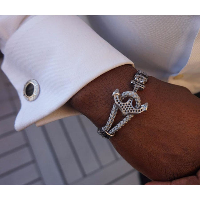 ANCHOR STONE BRACELET - Elnukstyles | unique affordable men's Bow Ties, Knitted Neckties, Flower Lapel Pins, Pocket Squares, Tie Clips, Cufflinks, Brooch, Toronto