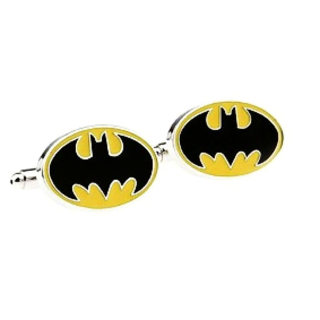 BATMAN CUFFLINKS - Elnukstyles | unique affordable men's Bow Ties, Knitted Neckties, Flower Lapel Pins, Pocket Squares, Tie Clips, Cufflinks, Brooch, Toronto