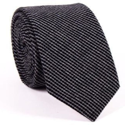 BLACK CHECKERED NECKTIE - Elnukstyles | unique affordable men's Bow Ties, Knitted Neckties, Flower Lapel Pins, Pocket Squares, Tie Clips, Cufflinks, Brooch, Toronto