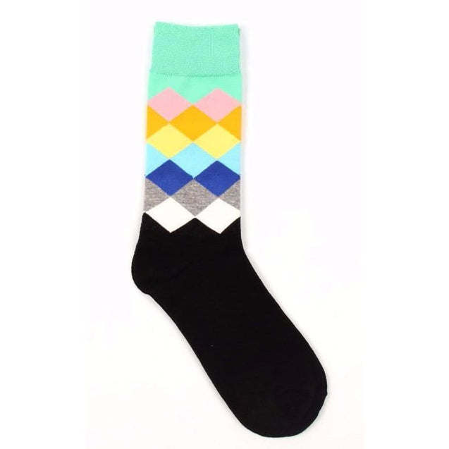 BLACK MULTI-COLOUR SOCKS - Elnukstyles | unique affordable men's Bow Ties, Knitted Neckties, Flower Lapel Pins, Pocket Squares, Tie Clips, Cufflinks, Brooch, Toronto