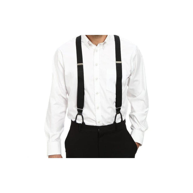 BLACK SUSPENDERS (BUTTON STYLE) - Elnukstyles | unique affordable men's Bow Ties, Knitted Neckties, Flower Lapel Pins, Pocket Squares, Tie Clips, Cufflinks, Brooch, Toronto