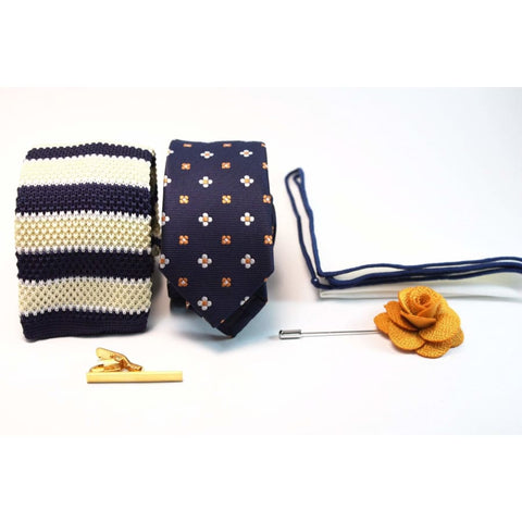 BLU ICE (POCKET SQUARE, NECK TIE, KNITTED TIES, LAPEL PIN, TIE CLIP) - Elnukstyles | unique affordable men's Bow Ties, Knitted Neckties, Flower Lapel Pins, Pocket Squares, Tie Clips, Cufflinks, Brooch, Toronto
