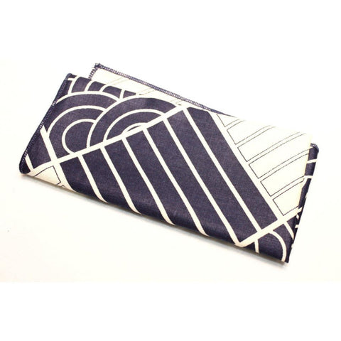 BLUE ARC STRIPES COTTON POCKET SQUARE - Elnukstyles | unique affordable men's Bow Ties, Knitted Neckties, Flower Lapel Pins, Pocket Squares, Tie Clips, Cufflinks, Brooch, Toronto