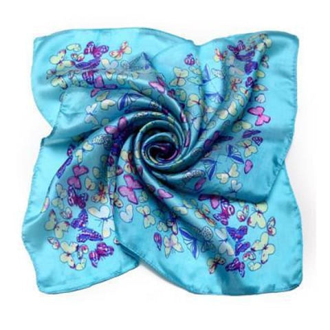 BLUE BUTTERFLY SILK POCKET SQUARES - Elnukstyles | unique affordable men's Bow Ties, Knitted Neckties, Flower Lapel Pins, Pocket Squares, Tie Clips, Cufflinks, Brooch, Toronto