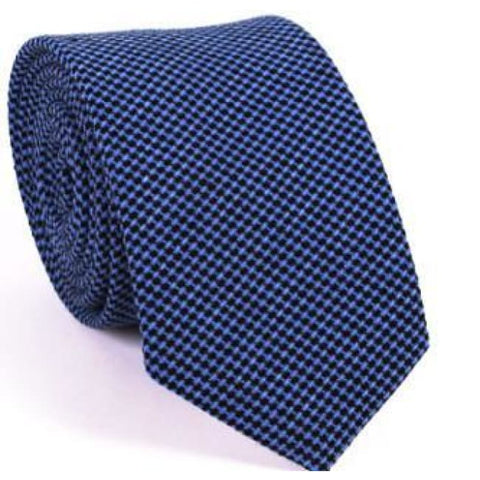 BLUE CHECKERED NECKTIE - Elnukstyles | unique affordable men's Bow Ties, Knitted Neckties, Flower Lapel Pins, Pocket Squares, Tie Clips, Cufflinks, Brooch, Toronto