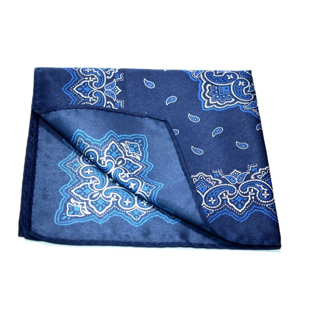 BLUE PAISLEY POCKET SQUARE - Elnukstyles | unique affordable men's Bow Ties, Knitted Neckties, Flower Lapel Pins, Pocket Squares, Tie Clips, Cufflinks, Brooch, Toronto