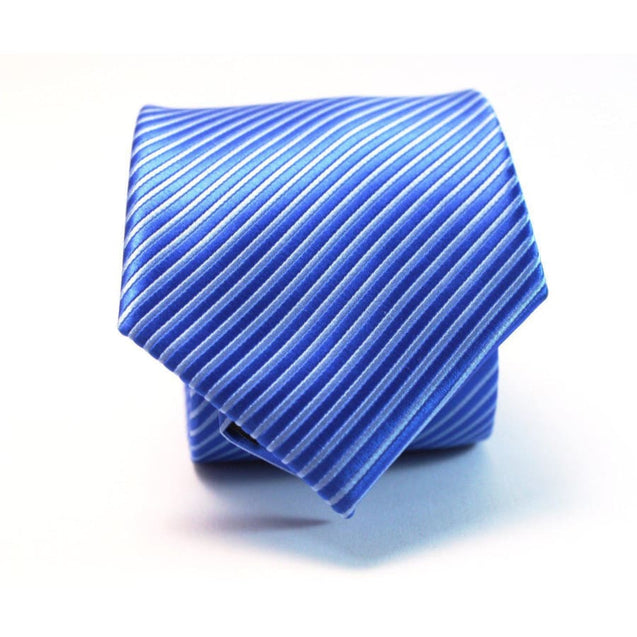 BLUE STRIPES NECKTIE - Elnukstyles | unique affordable men's Bow Ties, Knitted Neckties, Flower Lapel Pins, Pocket Squares, Tie Clips, Cufflinks, Brooch, Toronto