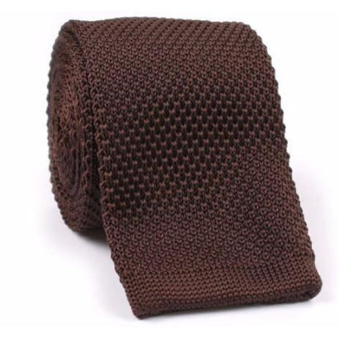 BROWN KNITTED NECKTIE - Elnukstyles | unique affordable men's Bow Ties, Knitted Neckties, Flower Lapel Pins, Pocket Squares, Tie Clips, Cufflinks, Brooch, Toronto