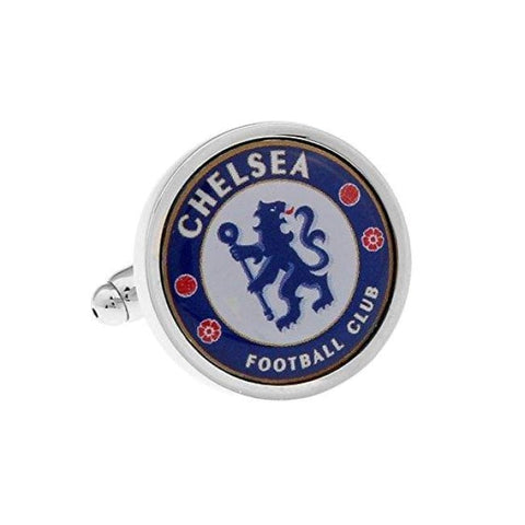 CHELSEA FC CUFFLINKS - Elnukstyles | unique affordable men's Bow Ties, Knitted Neckties, Flower Lapel Pins, Pocket Squares, Tie Clips, Cufflinks, Brooch, Toronto
