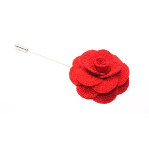 CLASSIC FLOWER LAPEL PIN (10 COLORS) - Elnukstyles | unique affordable men's Bow Ties, Knitted Neckties, Flower Lapel Pins, Pocket Squares, Tie Clips, Cufflinks, Brooch, Toronto